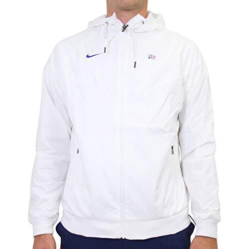 Nike 2020-2021 PSG Authentic Windrunner Jacke (weiß)