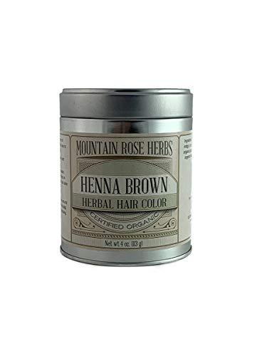 Henna Powder Mountain Rose Herbs - Certified Organic - 4oz (Brown)