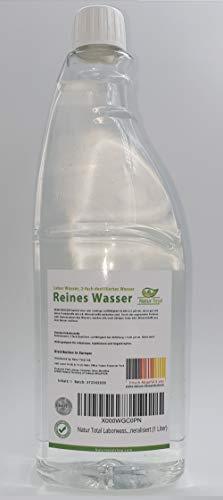 Natur Total Laborwasser, Reinst-Wasser, Labor Wasser, 2-fach destilliertes Wasser, durch Osmose entmineralisiert (1 Liter)