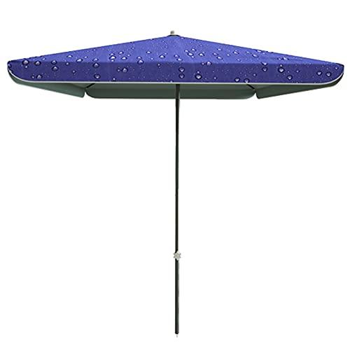 ELLENS Sombrilla de jardín, sombrilla de Mesa para Exteriores, protección UV 40+, Cubierta de protección Adicional para sombrilla, sombrilla Cuadrada con Forma de Gota de Agua (1.8M × 2.2M)