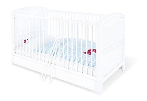 Pinolino - 110025 - Kinderbett Laura (140 x 70 cm) - mit 3 Schlupfsprossen, Kiefer, teilmassiv, weiß lackiert