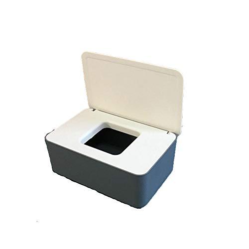 Dispensador de toallitas húmedas,Pañales de Bebé Mojado Tejido Caja Soporte Mantiene Toallitas Fresco con Tapa Sello, a prueba de polvo, para oficina en casa