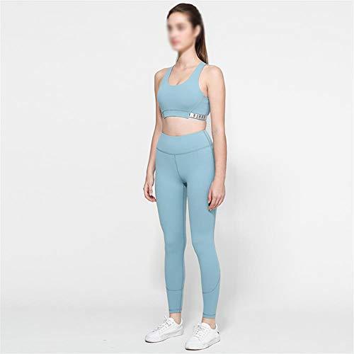 Nobrand Yoga 2 stuks pak dames yoga fitness joggingpak sport ondergoed yoga hoge waist controle broek training quick dry fitness kleding