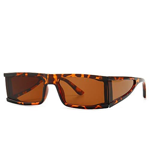 Moda Gafas De Sol Cuadradas De Moda para Mujer, Gafas De Sol con Espejo Tempest, Marca De Lujo, Vintage Steam Punk, Gafas De Sol para Hombres, Leopardo