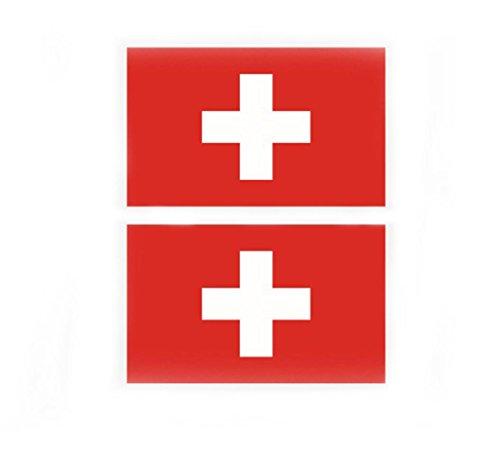 Westeng Mini Aufkleber Schweiz Flagge Aufkleber Sticker Tattoos Fußball Tasse Gesicht Aufkleber Umweltschutz Wasserdicht für Fußball Fan Auto Motorrad Handy Laptop Outdoor/Indoor