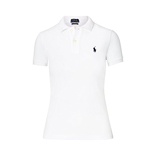 Ralph Lauren Damen Polo Shirt - Weiß - The skinny Polo (M, Weiß)