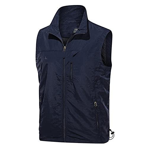 Chaleco sin mangas de los hombres de verano transpirable chaleco chaleco chaleco chaqueta de los hombres