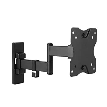 Mount World 1060 Black 15  to 27  Wall Mount for LCD Monitor Flat Screen TV with Swing Arm