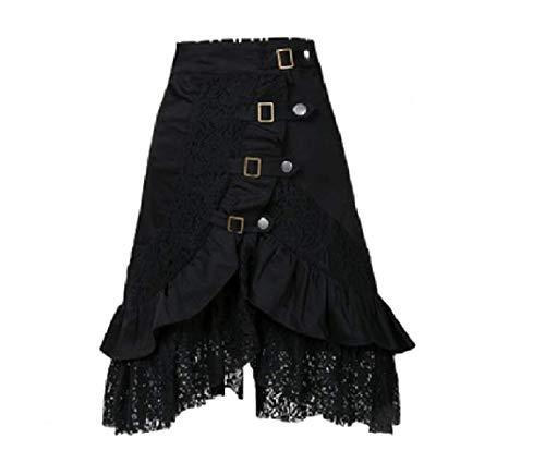 Steam-Punk - Faldas góticas góticas hippie vintage de encaje negro