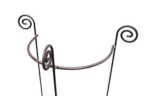 Hirsch Terracotta Staudenhalter halbrund stabil Breite 45cm Höhe 90cm Vollmaterial Rankhilfe, Pflanzenstütze