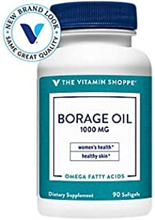 The Vitamin Shoppe Borage Oil 1,000MG (Black Currant), Women's Health Supplement, Supports Healthy Joint Function Circulat...