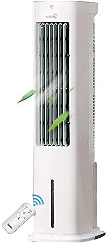 Qjkmgd Mini Tower Fan de enfriamiento Acondicionador de aire silencioso Acondicionador de refrigeración Evaporativo Ventilador de refrigeración de la oficina Ventilador de refrigeración móvil con cont