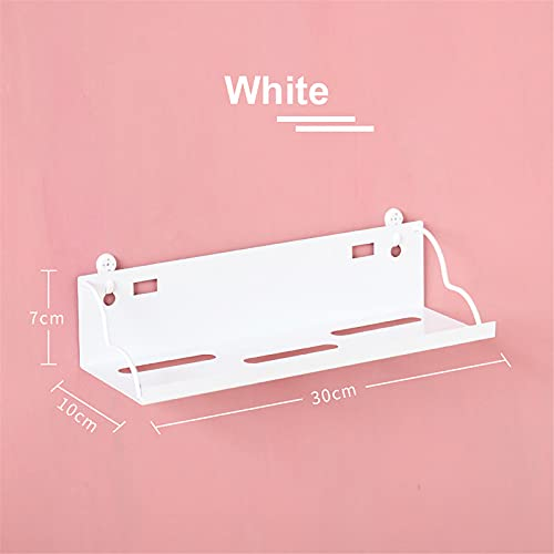 Estante flotante para colgar en la pared, para colgar libros, de madera, para colgar en la pared (tamaño: tamaño libre; color: blanco)