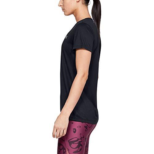 Under Armour - Camiseta de manga corta con cuello en V para mujer