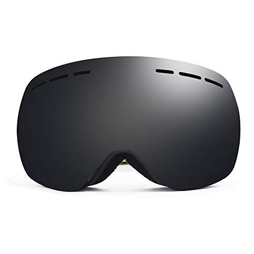 HUOFEIKE Erwachsene Anti-Fog Skibrille, Doppelobjektiv Abnehmbare Snowboard Goggles, UV400 Schutz Anti-Glare Helm kompatibel für Männer Frauen Outdoor-Sport,Ht