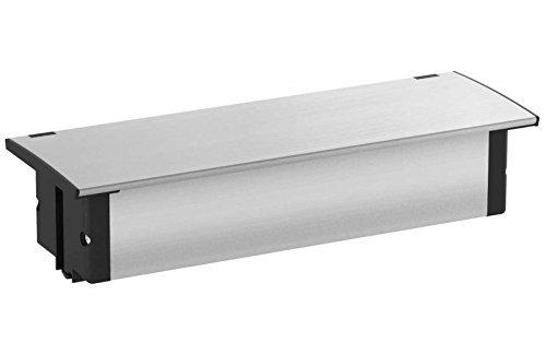 Kopo 553921 Kapsa - Enchufe para encimeras (conexión USB, tapa de acero inoxidable)
