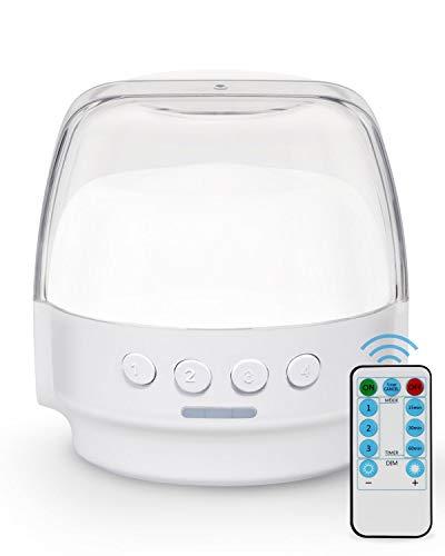 Brilex LED Night Light Table Lamp Lámpara de Escritorio con 3 Modos de Iluminación, con botón de función de temporización y control remoto, lámpara para niños Baby Nursing