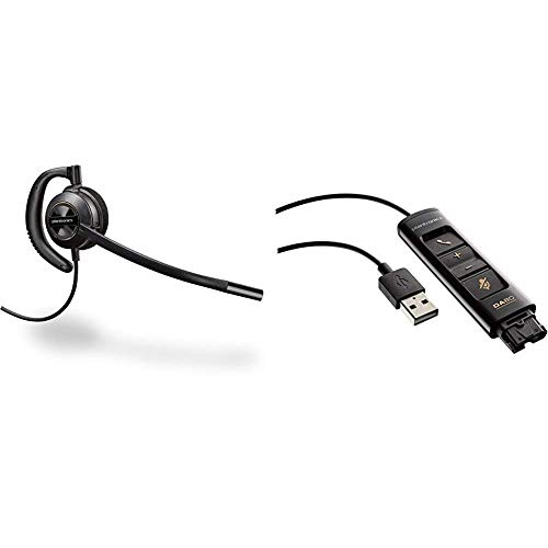 Check Out This Plantronics HW540 Encorepro Convertible Headset Bundle with Plantronics DA80 USB Audi...