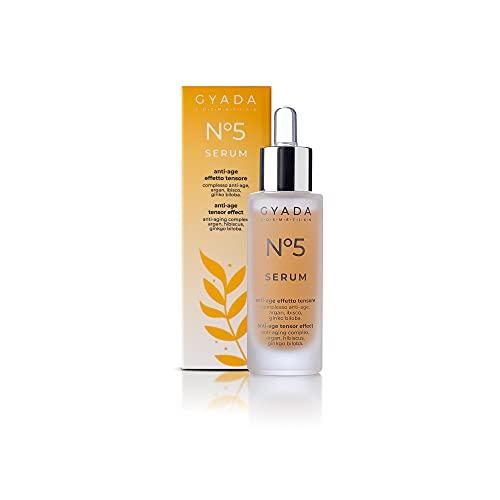 Gyada Cosmetics SIERO VISO N. 5 ANTI-AGE EFFETTO TENSORE  CERTIFICATO BIO  MADE IN ITALY  30 ml