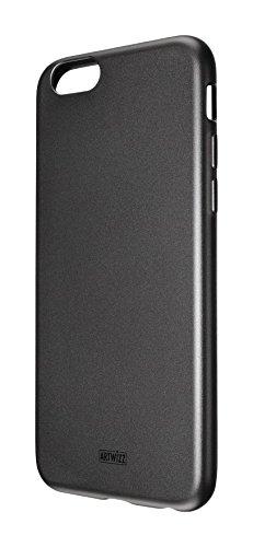 Artwizz TPU Case Handyhülle designed für [iPhone 8 PLUS, iPhone 7 PLUS] - Schlanke Schutzhülle mit Matter Rückseite & Schwarz-glänzendem Rahmen - Schwarz