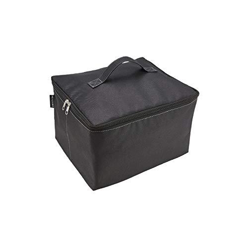 Meyliving Kühltasche Schwarz 26x31x18cm für Faltbox S + L, Speisen Getränke Polyester abwischbar Transport Einkauf Picknick