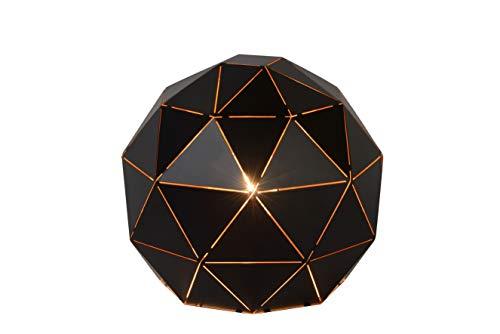Lucide OTONA - Tischlampe - Ø 25 cm - E27 - Schwarz