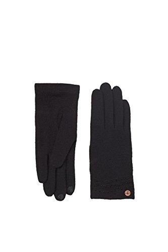 ESPRIT edc by Accessoires Damen 107CA1R005 Handschuhe, Schwarz (Black 001), One Size