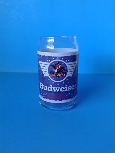 Zachrtroo Vintage Barware Budweiser Bier kan glazen pot 16 oz Libbey Man Cave