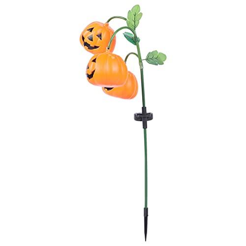 UKCOCO Luci a LED a energia solare per Halloween, zucca da giardino, pathway, marcatore, paesaggio, illuminazione per Halloween, partecipazione delle feste
