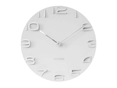 Karlsson KA5311WH On The Edge Orologio da Muro, Bianco