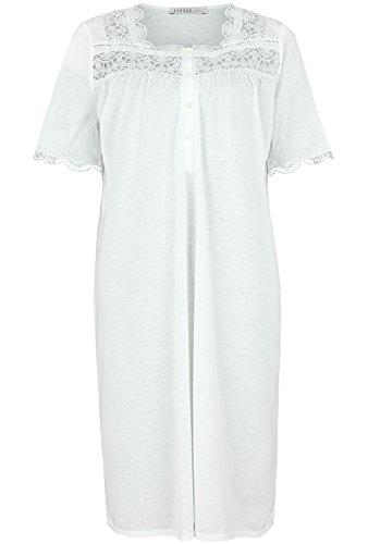 Féraud Damen Nachthemd 3883125, Einfarbig, Gr. 48, Elfenbein (Champagner 10044)
