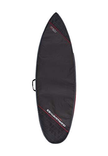 Ocean and Earth Compact Day - Bolsa para tabla de surf (7 pies), color negro y rojo claro