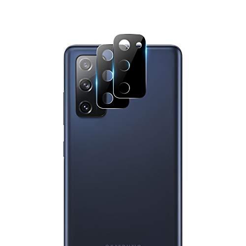 GEEMEE Für Samsung Galaxy S20 FE Kamera Panzerglas Schutzfolie, 2 Pack Metallrahmen Hochauflösender Panzerglas Gehärtetes Für Kamera objektiv Full Scratch Protection