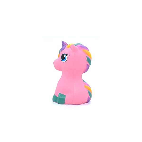 YXJC Fun Toys Squishies, Kawaii Pink Unicorn Pony Squishy, Creamy Aroma Slow Rising Squeeze Toys for Boys and Girls Gift 3
