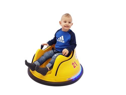 Erico Kids Correpasillos Giratorio, vehículo eléctrico de 360° con Luces LED +...
