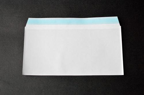 PFメール 洋0 【50,000枚】 フィルム+紙封筒 切手/筆記可 静電気防止処理テープ付き 折線付き 表:全面白紙/裏:透明 OPP50μ(0.05mm) 紙80g UV印刷可