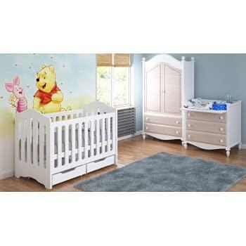 Lettini per bambini Home - Lettino per neonati 120x60x95 - Candy - Bianco, Sì, 12 cm in lattice