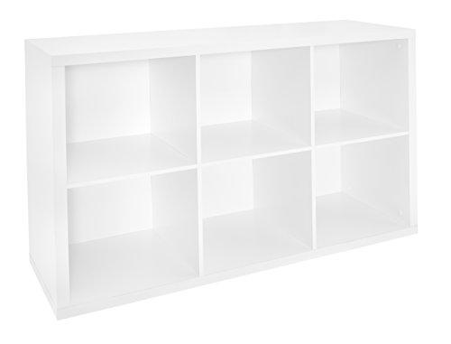 ClosetMaid 1109 Decorative 6-Cube Storage Organizer, White