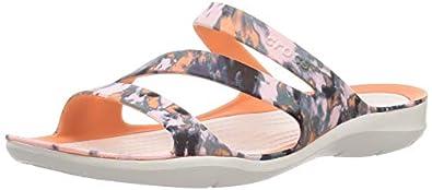 crocs Women Grapefruit/Almost White Fashion Sandals-2 UK (33.5 EU) (4 US) (206473-82X)