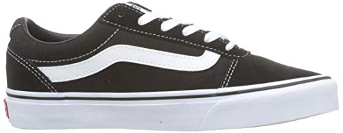 Vans Damen Ward Suede/Canvas Sneaker, Schwarz Black/White Iju, 35 EU