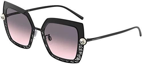 Dolce & Gabbana Damen 0DG2251H Sonnenbrille, Black/Grey, 51