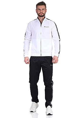 Champion Herren Trainingsanzug 214424 WW001 WHT NBK NBK Weiß Schwarz, Größe:L