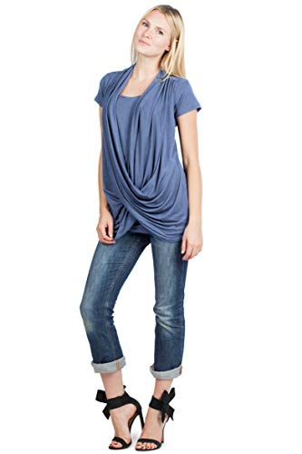 Savi Mom Maternity Nursingwear Criss Cross Top with Cami USA Made Pumping...
