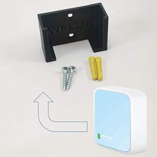 TP Link Nano WIFI Router WR802N Wandsteun onder bureau houder 3D TPL WR802N BLACK