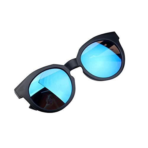 OUlike Ragazzi Ragazze Occhiali da Sole Ombre Lenti Luminosi UV400 Protezione Occhiali da Sole Colorato Caramella Bambino Spiaggia Giocattoli 2-8Y Nero e Blu. 2-8 Anni