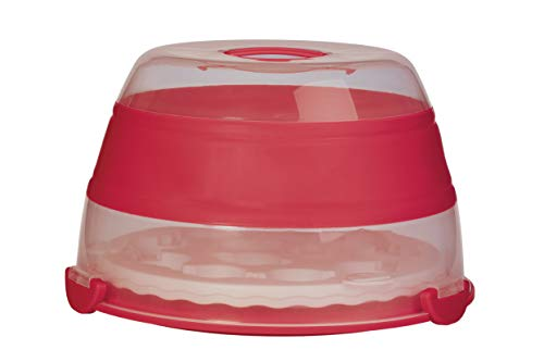 Round Collapsible Cupcake and Cake Carrier