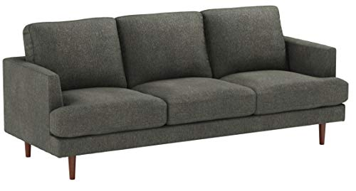"Amazon Brand – Rivet Goodwin Modern Sofa, 88.6""W, Charcoal Grey"