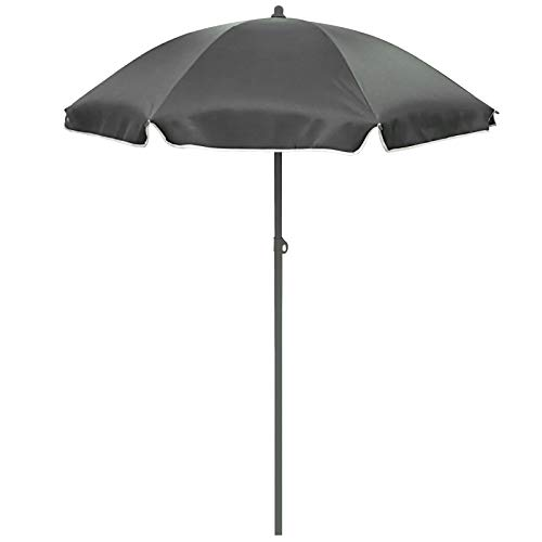 Runder Sonnenschirm Ø 180 cm mit Knickgelenk höhenverstellbar• Schirm Strandschirm Sonnenschutz Garten Camping Sonnen Schutz