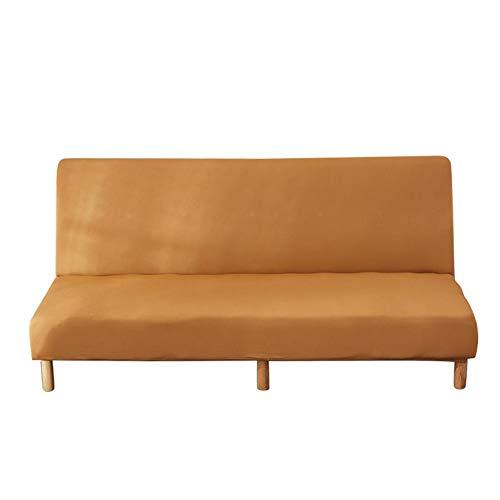 Wood.L Fundas Sofa Sin Brazos Elasticas Plegable Fabric Poliéster Spandex Cubre Sofa Sin Reposabrazos,Extraíbles Y Lavables,Fundas Protector para Sofa Cama Fundas De Elástica