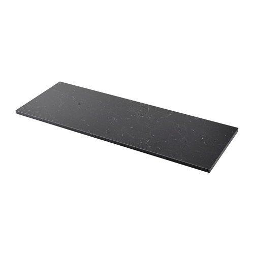 Ikea SÄLJAN Arbeitsplatte schwarz marmoriert; (186x3,8cm)